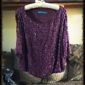 Gorgeous Sequin Alice + Olivia Blouse